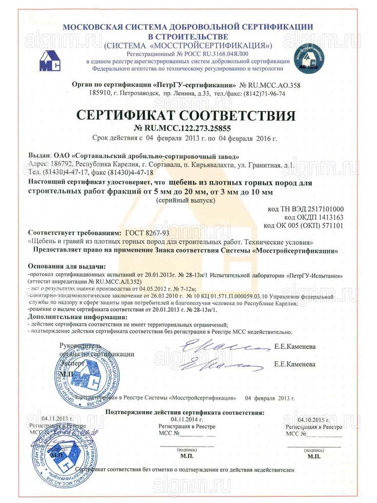 Сертификат На Керамзит Санкт-Петербург